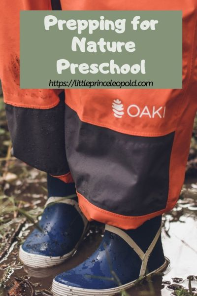 oaki nature preschool rain boots suit
