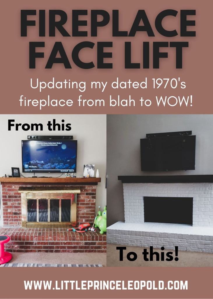 fireplace update- home repair- diy home- painted brick