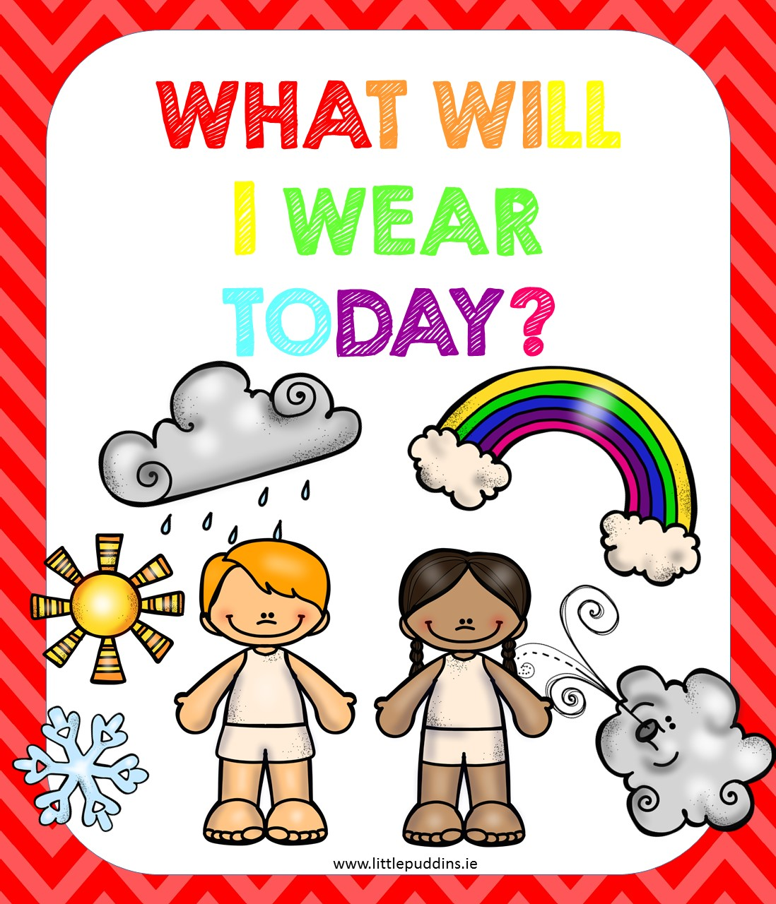 Clothing And The Weather Little Puddins Free Printables