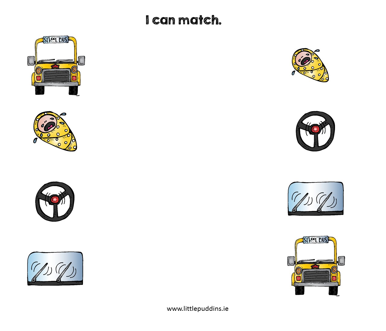 Wheels On The Bus Free Printable Little Puddins