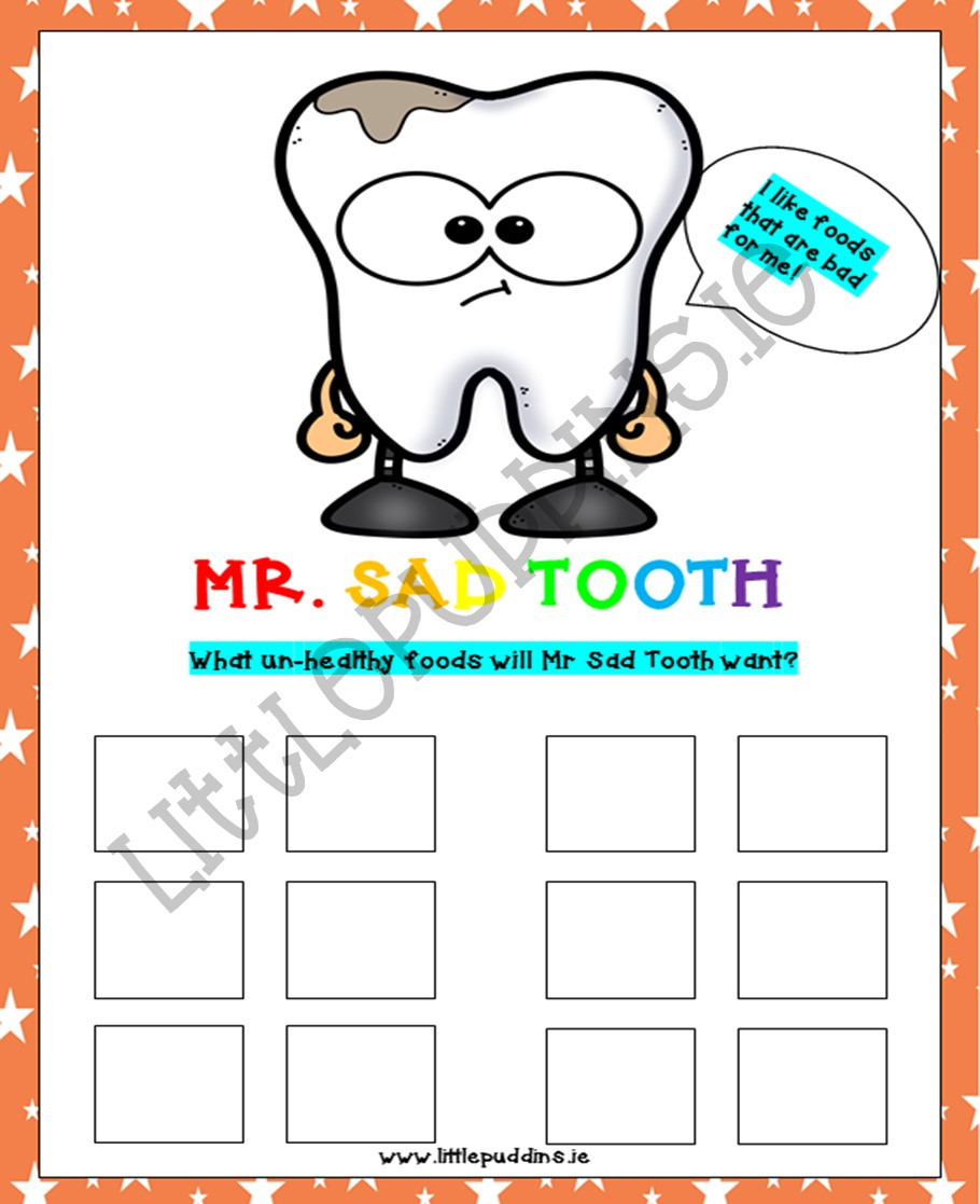 Mr Happy Tooth Free Printable