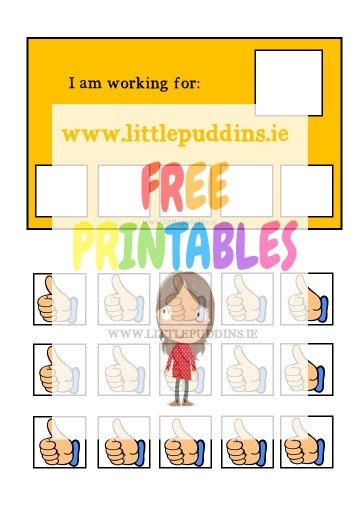 Autism Token Board FREE Printable