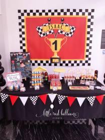 Race Car Theme Dessert Table