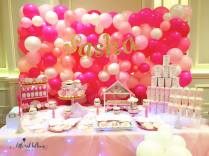 Sasha Balloon Wall and Dessert Table