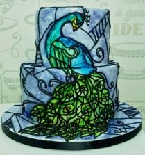 peacock-theme-cake