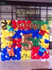 Lego Balloon Decor Backdrop
