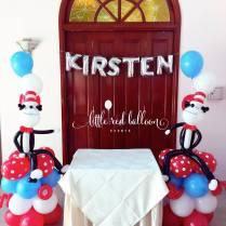 birthday party balloon columns