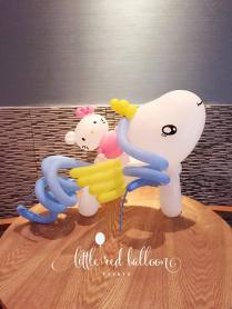 pony-and-hello-kitty-balloon-sculptures