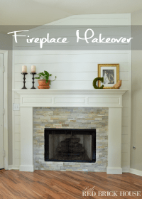 Farmhouse Fireplace Makeover Reveal | Little Red Brick House