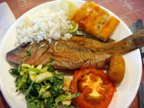 Probably one of the better meals in our all-inclusive hotel in Varadero.
