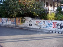 There were a lot of graffiti all over Varadero and Havana.