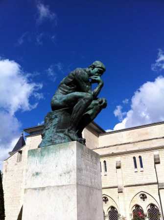 The Thinker found at Musee Rodin.