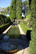 First glimpse of the Generalife Gardens.