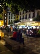 Plaza Nueva at night.