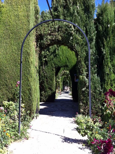 I love these hedge tunnels. You can pretend you don't see the person's hand holding out his camera!