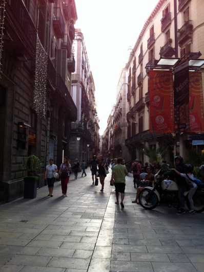 Absolutely LOVED walking around the streets of Barcelona.