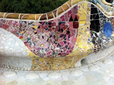 Close up of the mosaic tiles that were everywhere.