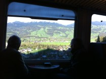 En route towards Lucerne, Switzerland. We made the mistake of sitting on the right side of the train. Make sure you sit on the LEFT side if you wanna enjoy the scenic view.