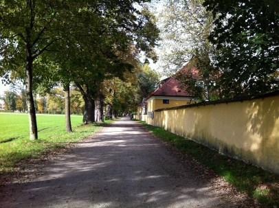 Outside of Schloss Frohnburg along Hellbrunner Allee.