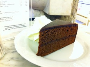 Sachertorte. I'm not usually a chocolate fan, but this was pretty darn good.