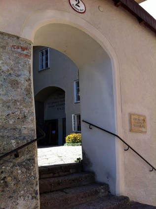 """Nonnberg Abbey - Didn't get a chance to go around to see the front gates, but the inside courtyard was where the nuns were singing Maria (""""how do you solve a problem like Maria? How do you catch a cloud and pin it down?..."""")"""
