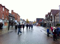 Stratford upon Avon's town centre.