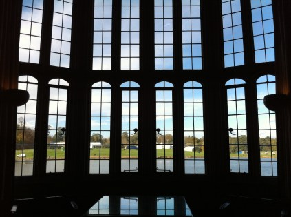 The windows in one of the rooms in Leeds Castle.