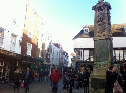 Wandering through the streets of Canterbury, Kent.