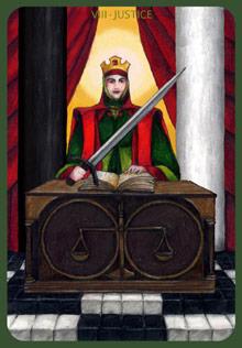Justice Tarot Card - Anna K