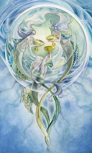 Three of Cups Shadowscapes Tarot