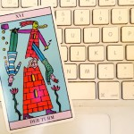 The Tower tarot card, from the Kitty Kahane Tarot