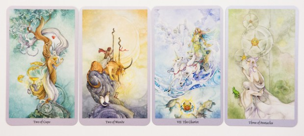 Just a few of the androgynous, trans, and otherwise queer people I see in the Shadowscapes deck