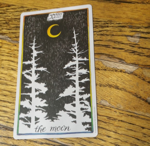 Queering The Tarot 18 The Moon Little Red Tarot