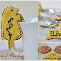 Kirsch-Cookies in gelbem Kleidchen