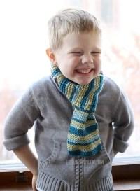 Kids Loop Scarf Knitting Pattern - Little Red Window