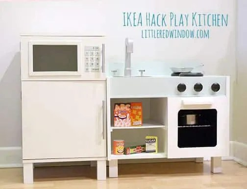 play kitchen ikea pot sets hack fridge and microwave little red window littleredwindow com make an adorable with sink