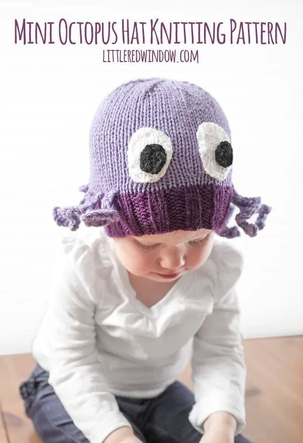 Octopus Knitting Pattern : octopus, knitting, pattern, Octopus, Knitting, Pattern, Little, Window
