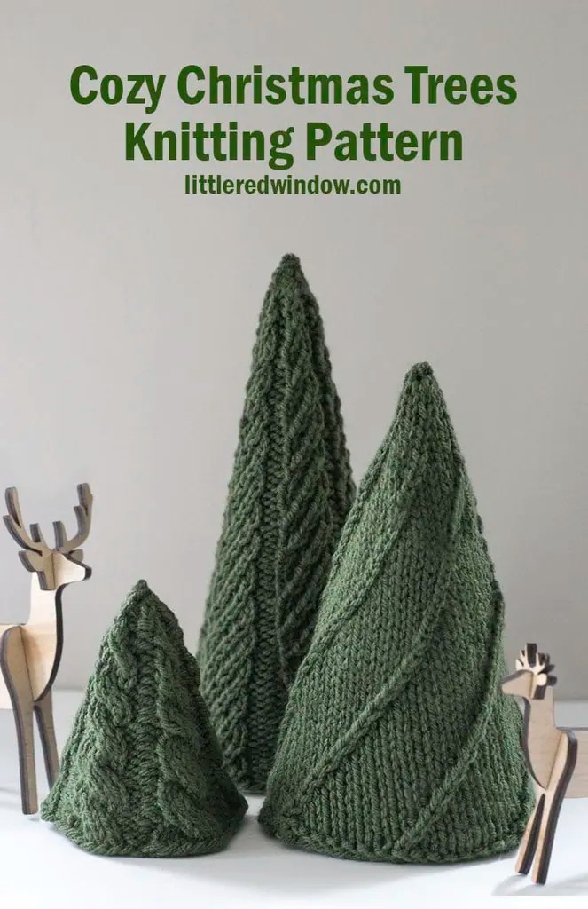 Cozy Christmas Tree Knitting Patterns Little Red Window