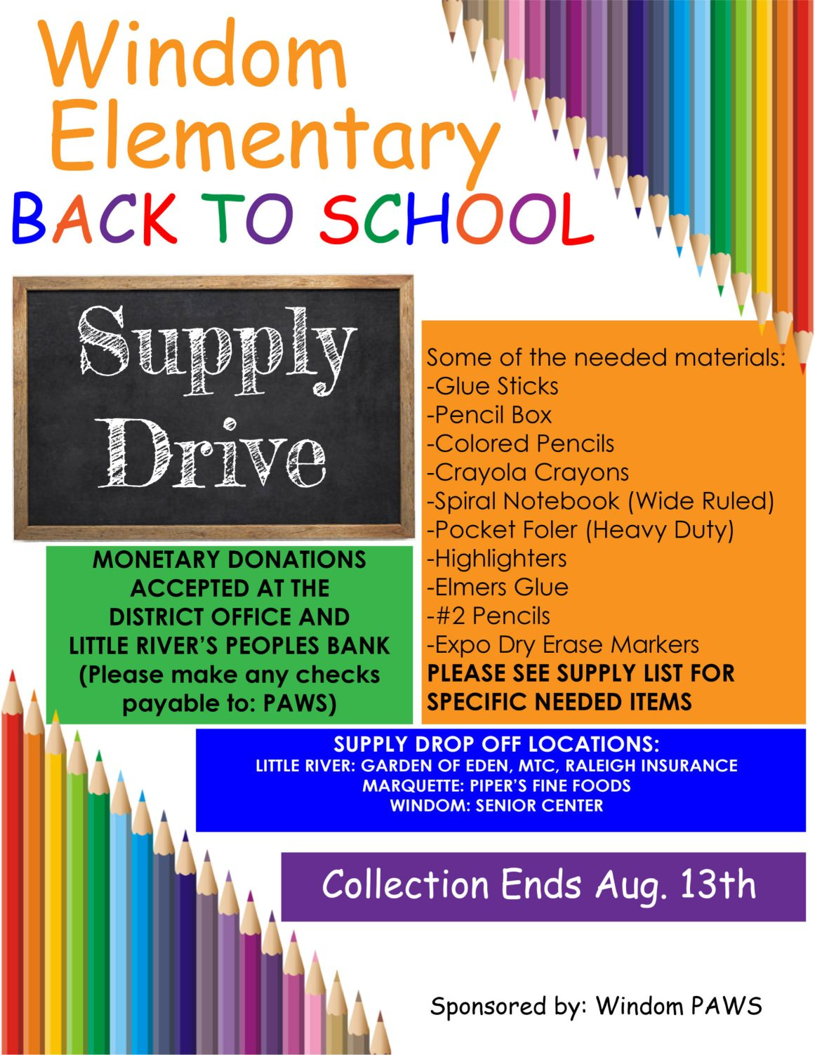 PAWS School Supply Drive