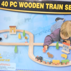 40 pc Wooden Train Set