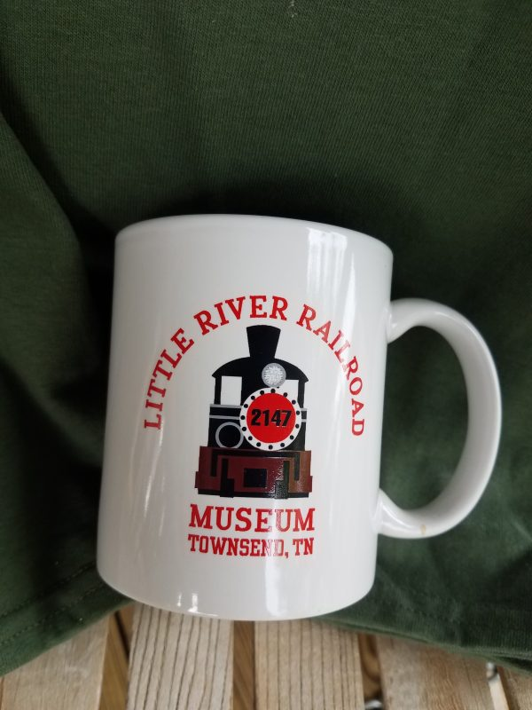 Railroad Crossing White Mug