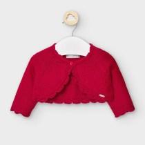 Cardigan scurt rosu din tricot, Mayoral