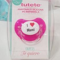 Suzeta roz I love mami +0 luni