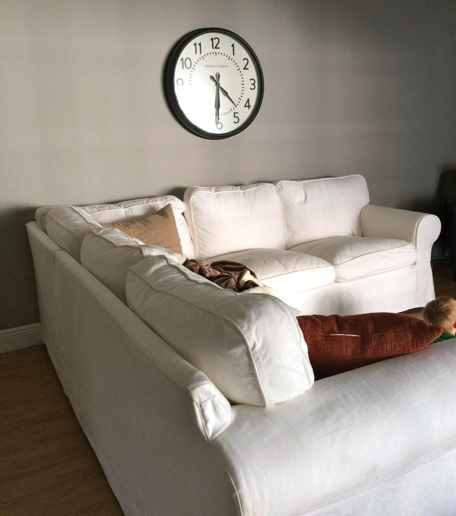 Ikea ektorp white slipcover sectional