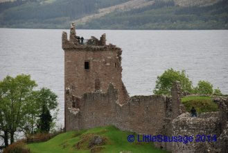 Urquhart Castle on the shore of Loch Ness