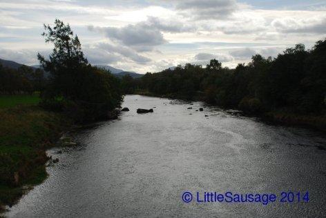 The river Spey runs right past Boat of Garten.