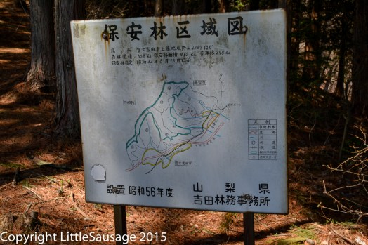 A map possibly showing hiking paths or possibly warning you to keep out of a dangerous area!