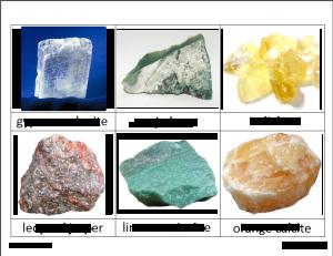 rocks deann3 300x231 - Rocks and Minerals Classified Cards