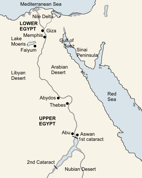 Egypt Labelled - Maps/Timelines