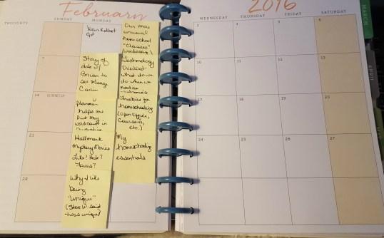 Blogging Calendar Tentative